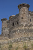 La Mancha - Belmonte Fortress - Spain. The medieval castle in the town of Belmonte in the La Mancha region of central Spain Royalty Free Stock Photos
