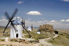 La Mancha di Consuegra, Castiglia Fotografie Stock Libere da Diritti