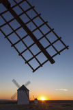 La Mancha Windmills at Sunset - Spain Stock Image
