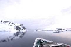 La Manche Antarctique de Lemaire Image libre de droits
