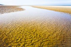 La Manche coastline in Normandy Stock Photography
