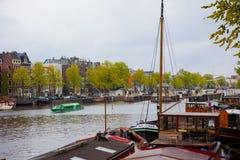 La Manche d'Amsterdam Images stock