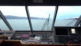 La Manche de briquet d'un bateau banque de vidéos