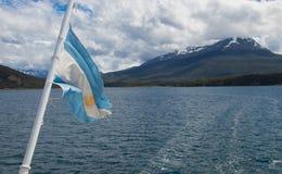 La Manche de briquet près de la ville d'Ushuaia photographie stock libre de droits