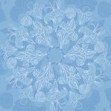 Fondo blu dell'ornamento floreale Fotografia Stock Libera da Diritti