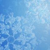 Fondo blu dell'ornamento floreale Immagini Stock