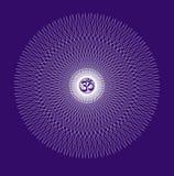 La mandala a cielo abierto, ornamento circular elegante con OM/el Aum/el ohmio firma adentro el centro Vector Fotos de archivo libres de regalías