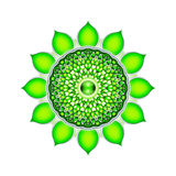 La mandala de Chakra del corazón ilustración del vector
