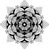 La mandala, zentangle ha ispirato l'illustrazione Fotografie Stock