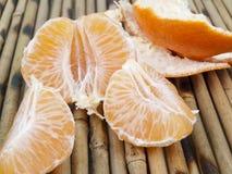 La mandarina pelada Imágenes de archivo libres de regalías