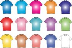 La manera arropa la ilustración de la dimensión de una variable de la camiseta del color Imagen de archivo