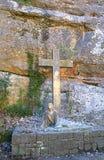 La manera de la escultura cruzada de Jesús, Montserrat Imagen de archivo