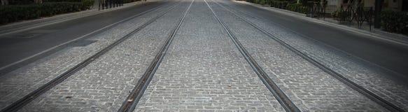 La manera de la tranvía Foto de archivo libre de regalías