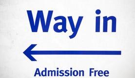 La manera en la admisión de la muestra libera Fotografía de archivo