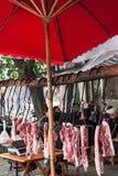 La manera en China de vender el cerdo Fotos de archivo