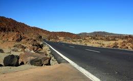 La manera en Tenerife, islas Canarias Fotos de archivo libres de regalías