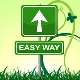 La manera fácil representa señalar y la exhibición de la facilidad libre illustration
