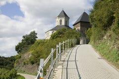 La manera a la capilla de St Matías en Kobern-Gondorf Fotografía de archivo libre de regalías