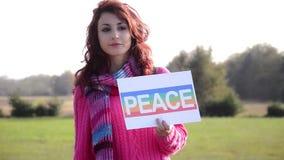 La manera a la paz almacen de video