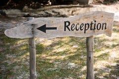 La manera a la recepción Fotografía de archivo