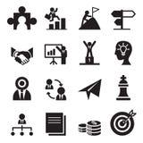 La manera a los iconos del éxito fijados Imágenes de archivo libres de regalías