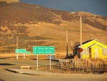 La manera a Torres del Paine. Foto de archivo