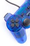 La manette bleue pour le jeu vidéo de jeu de contrôleur Images stock