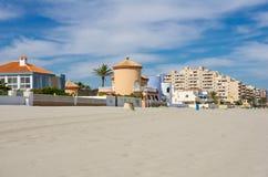 La Manga. The coast of Mediterranean sea, La Manga, Spain Royalty Free Stock Photo