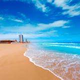 La Manga Del Mar Menor海滩在穆尔西亚西班牙 图库摄影