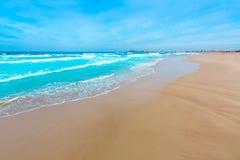 La Manga del Mar Menor beach in Murcia Spain. Playa Barco Perdido at Mediterranean Royalty Free Stock Images