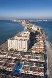 La Manga del Mar Menor, Murcia coast. La Manga del Mar Menor, aerial view. Murcia coast Royalty Free Stock Images