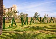 La Manga Tourist Resort, Spanien Lizenzfreies Stockfoto