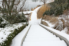 La manière dans la neige Photographie stock libre de droits