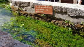 La manière de l'eau photographie stock