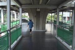 La manière de promenade de ciel à la station de BTS image stock