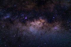 La manière laiteuse austral, avec des détails de son noyau coloré, éminemment lumineux Capturé de l'hémisphère sud Images libres de droits
