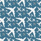 La manière sans couture de voyage de transport d'avion et d'avions de vue supérieure d'illustration de vecteur de fond de modèle  illustration libre de droits