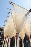 La manière traditionnelle de sécher la farine fine à Taïwan image stock
