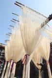 La manière traditionnelle de sécher la farine fine à Taïwan photo libre de droits