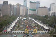 la manifestazione di fiore ha tenuto Victoria Park March 2019 immagini stock