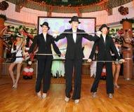 La manifestazione i ballerini del corpo di ballo balla lo stile del gruppo Fotografia Stock Libera da Diritti