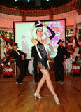La manifestazione i ballerini del corpo di ballo balla lo stile del gruppo Fotografie Stock