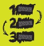 La mano abstracta dibujada numera con un espacio para el texto Fotos de archivo libres de regalías