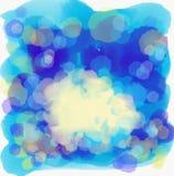 La mano ahoga el mar y el cielo azules del fondo del extracto stock de ilustración