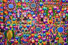 La mano colorida hizo las materias textiles a mano Imagen de archivo libre de regalías
