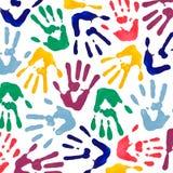 La mano colorida imprime el papel pintado Imagen de archivo libre de regalías