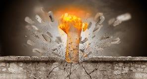 La mano colpisce intenso e le rotture mettono il bastone tra le ruote immagine stock libera da diritti