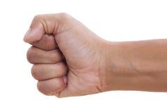 La mano con apretó un puño Fotografía de archivo libre de regalías