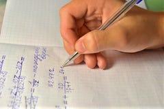 La mano con la penna Fotografia Stock