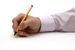 La mano con la penna Immagini Stock